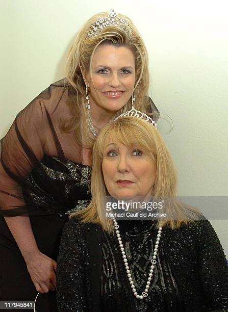 Nancy Davis and Teri Garr during 12th Annual Race to Erase MS CoChaired by Tommy Hilfiger and Nancy Davis Backstage and Audience at The Westin...