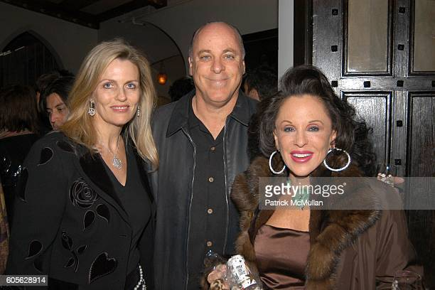 Nancy Davis Kenny Richter and Nikki Haskell attend ETRO and PERRIER JOUET Celebrate Patrick McMullan's Book KISS KISS at Chateau Marmont on February...