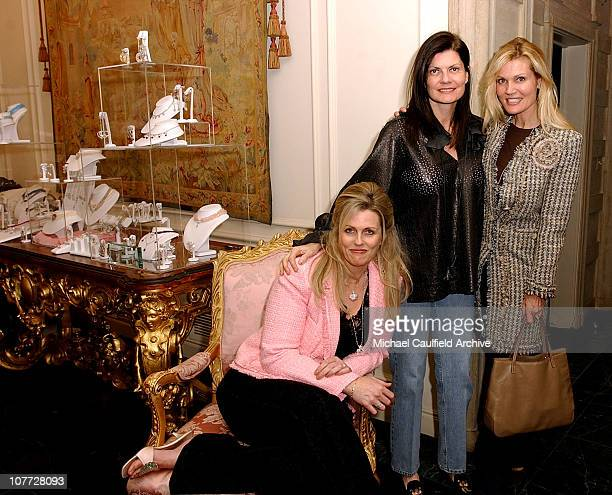 Nancy Davis Pam McMahon and Lynn Palmer during Peace and Love Jewelry by Nancy Davis Oscar Jewelry Preview at Private Residence in Los Angeles...