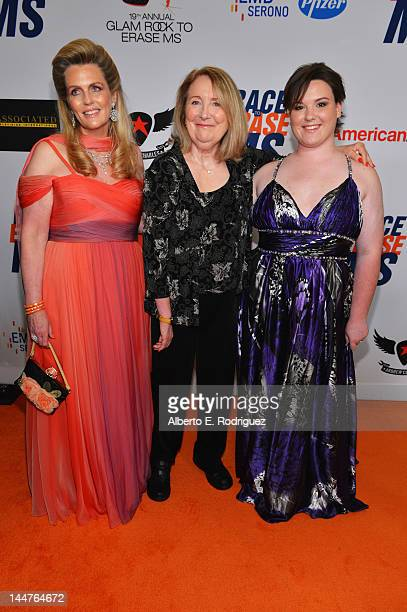 Nancy Davis Teri Garr and Molly O'Neill arrive at the 19th Annual Race to Erase MS held at the Hyatt Regency Century Plaza on May 18 2012 in Century...