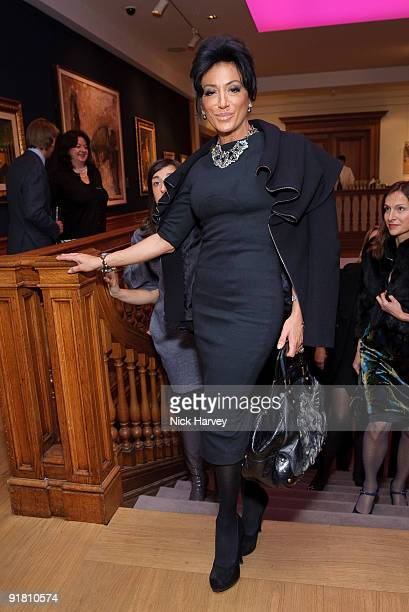 Nancy del Olio attends reception hosted by Graff held in aid of FACET at Christie's King Street on October 12 2009 in London England
