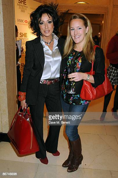 Nancy Dell'Olio and Katie Banks attend the SHE Inspiring Women Awards 2009 held at Claridges Hotel on May 08 2009 in London England
