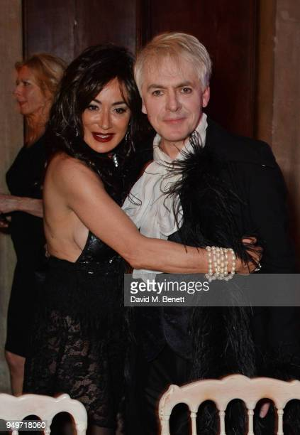 Nancy Dell'Olio and Nick Rhodes attend a party to celebrate Nefer Suvio's birthday hosted by The Count and Countess Francesco Chiara Dona Dalle Rose...