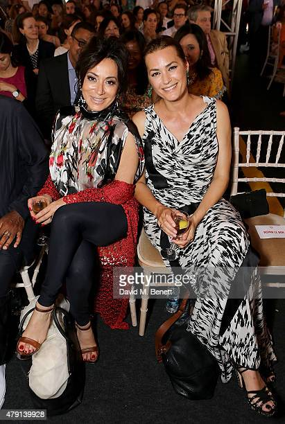 Nancy Dell'Olio and Yasmin Le Bon attend as Eco World Ballymore welcomes English National Ballet to its new home on London City Island on July 1 2015...