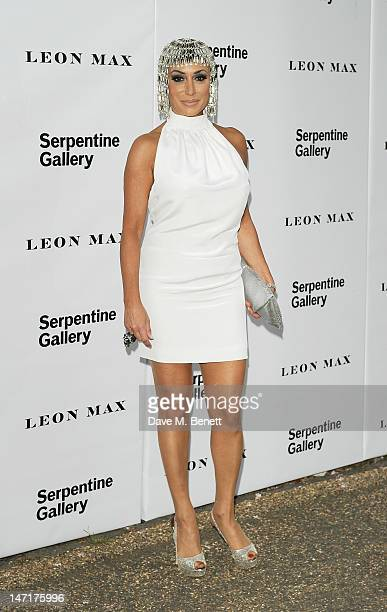 Nancy Dell'Olio arrives at the Serpentine Gallery Summer Party sponsored by Leon Max at The Serpentine Gallery on June 26 2012 in London England