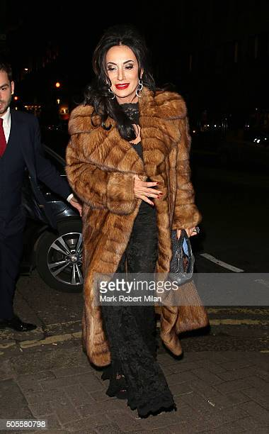 Nancy Dell'Olio at Sexy Fish restaurant on January 18 2016 in London England