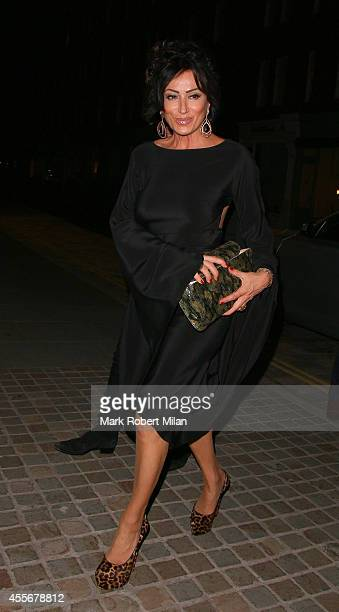 Nancy Dell'Olio at the Chiltern Firehouse on September 18 2014 in London England
