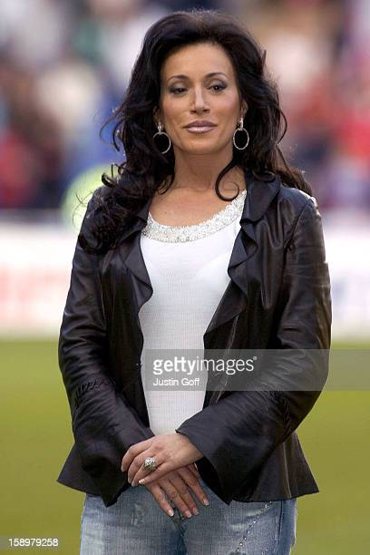 Nancy Dell'Olio At The England V Germany The Legends Charity Football Match At The Madejski Stadium In Reading