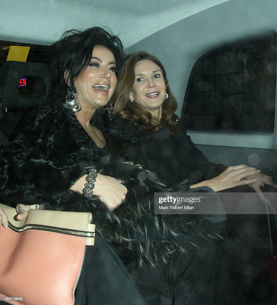 Nancy Dell'Olio at the Groucho club on March 19, 2013 in London, England.