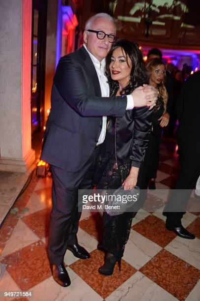 Nancy Dell'Olio attends a party to celebrate Nefer Suvio's birthday hosted by The Count and Countess Francesco Chiara Dona Dalle Rose at Palazzo Dona...