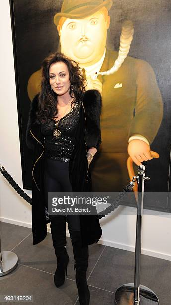 Nancy Dell'olio attends a private view of the Fernando Botero exhibition at The Opera Gallery on February 10 2015 in London England