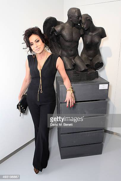 Nancy Dell'olio attends a private view of works by master sculptor Igor Mitoraj to launch Contini Art UK a new gallery opening on New Bond Street on...