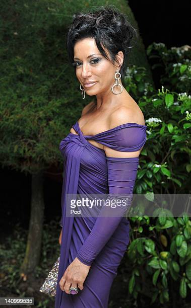 Nancy Dell'olio attends a reception before a state dinner in the King's House attended by Prince Harry on March 6 2012 in Kingston Jamaica Prince...