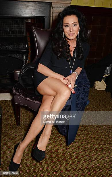 Nancy Dell'Olio attends an after party following the press night performance of 'Handbagged' at the Royal Horseguards hotel on April 10 2014 in...
