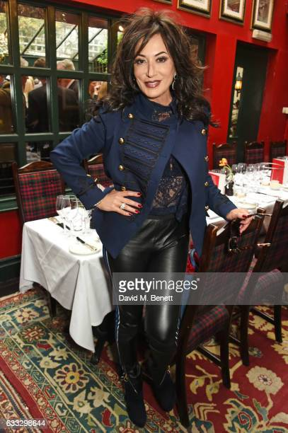 Nancy Dell'Olio attends Boisdale Life Magazine's inaugural 'Editors Lunch' at Boisdale Of Belgravia on February 1 2017 in London England