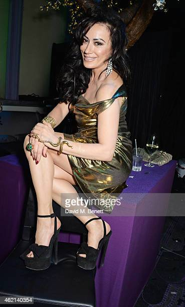 Nancy Dell'Olio attends Lisa Tchenguiz's 50th birthday party at the Troxy on January 24 2015 in London England