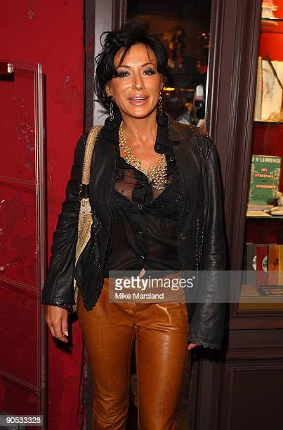 Nancy Dell'Olio attends private view of Coco De Mer And John Stoddart: Love And Lust on September 9, 2009 in London, England.