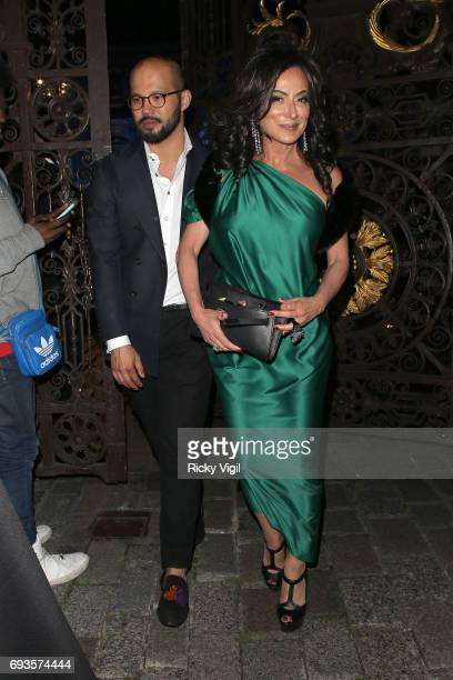 Nancy Dell'Olio attends Royal Academy of Arts Summer Exhibition 2017 VIP preview/party on June 7 2017 in London England