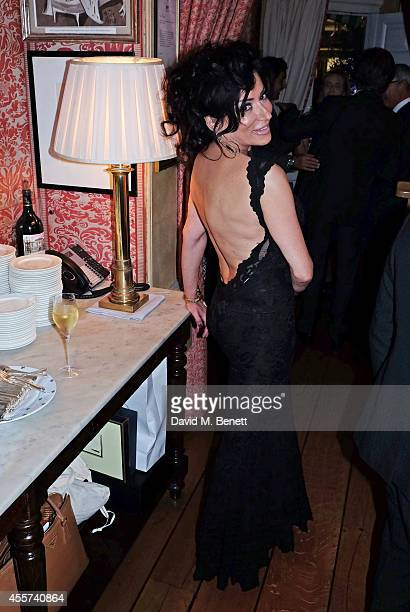 Nancy Dell'Olio attends the 35th Birthday of Harry's Bar on September 19 2014 in London England