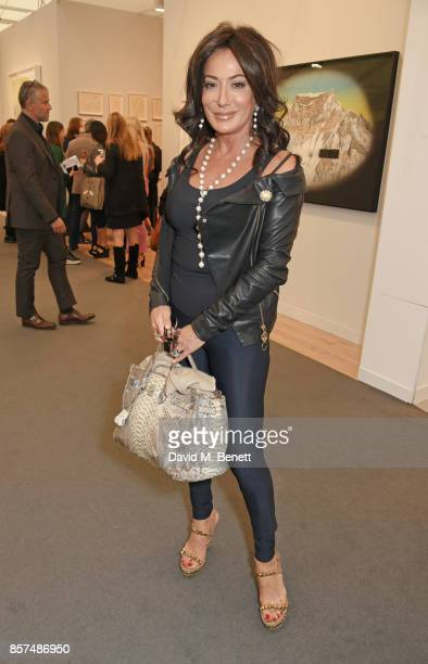 Nancy Dell'Olio attends the Frieze Art Fair 2017 VIP Preview in Regent's Park on October 4 2017 in London England