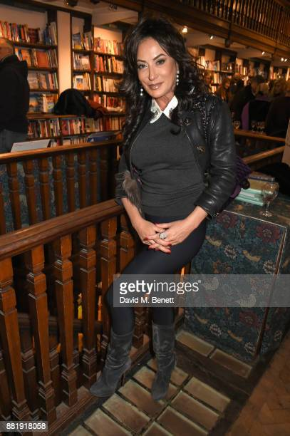 Nancy Dell'Olio attends the launch of new book 'Unaccompanied Minor' by Alexander Newley at Daunt Books on November 29 2017 in London England