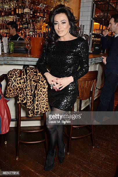 Nancy Dell'Olio attends the launch of new restaurant West Thirty Six on January 29 2015 in London England