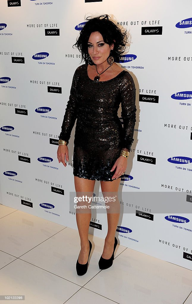 Nancy Dell'olio attends the launch of the Samsung Galaxy S Smartphone held at Altitude Bar on June 15, 2010 in London, England.