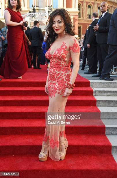 Nancy Dell'Olio attends The Olivier Awards 2017 at Royal Albert Hall on April 9 2017 in London England