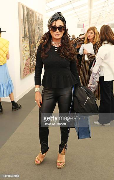 Nancy Dell'Olio attends the VIP private view of the Frieze Art Fair 2016 in Regent's Park on October 5 2016 in London England