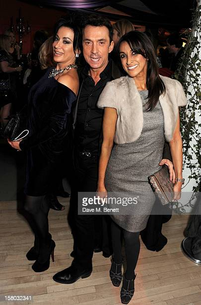 Nancy Dell'Olio Bruno Tonioli and Jackie St Clair attend an after party following the press night performance of Matthew Bourne's Sleeping Beauty at...