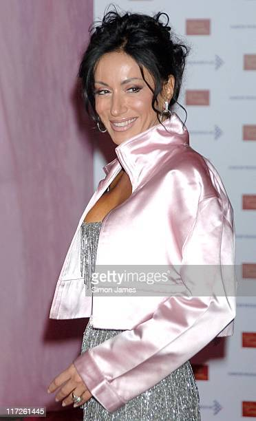 Nancy Dell'Olio during A Touch Of Pink VIP Fundraising Party at Madame Tussauds in London Great Britain