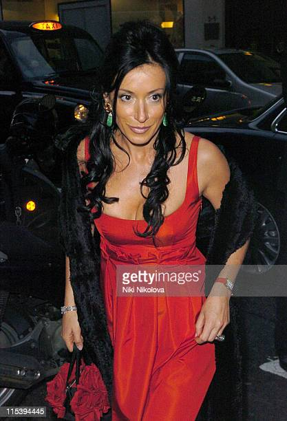 Nancy Dell'Olio during Ella Krasner's 'The Russian House' Book Launch Party at De Beers Old Bond Street in London Great Britain
