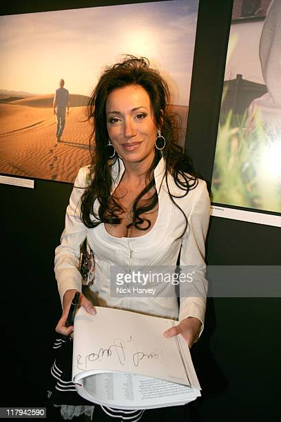 Nancy Dell'Olio during The Other Side of Football Exhibition Inside at The Marquee in London Great Britain