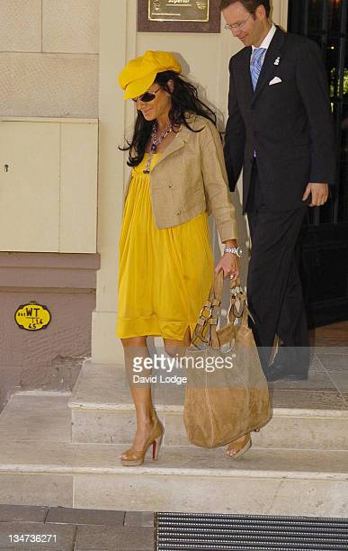 Nancy Dell'Olio during Wayne Rooney and England Player's Wives and Girlfriends Sightings at the Brenner Park Hotel in BadenBaden July 1 2006 at...