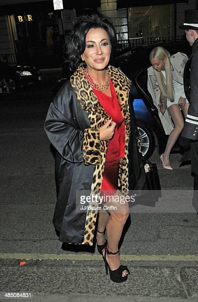 Nancy Dell'Olio is seen on February 21 2013 in London United Kingdom