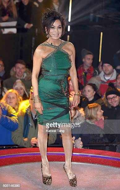 Nancy Dell'Olio is the 2nd celebrity evicted from the Big Brother house at Elstree Studios on January 15 2016 in Borehamwood England
