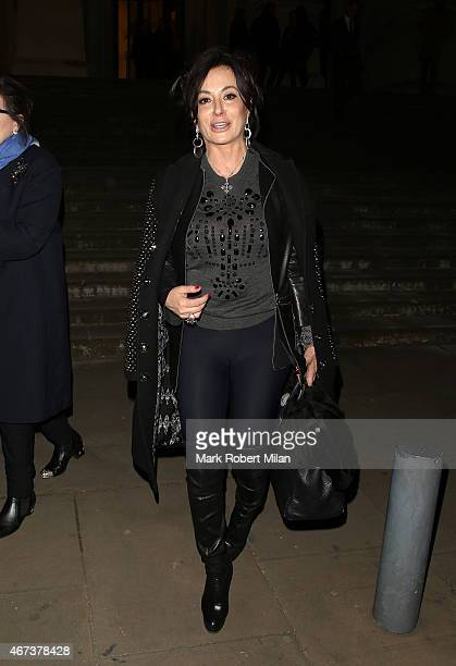 Nancy Dell'Olio leaving the Tate Britain art gallery on March 23 2015 in London England