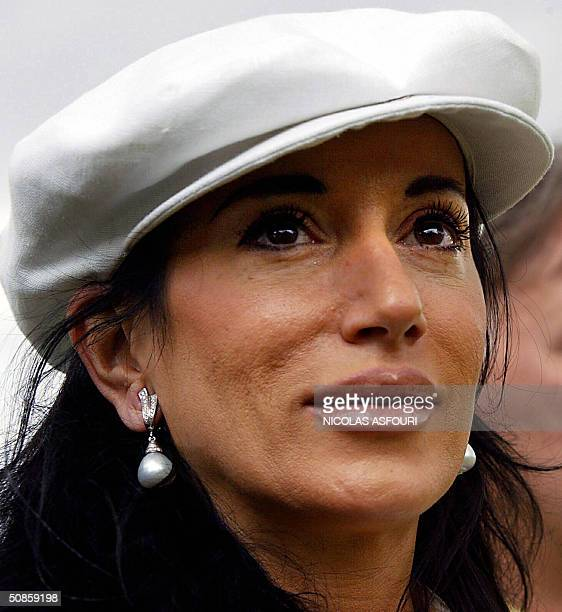 Nancy Dell'ollio wife of England's coach Sven Goran Eriksson attends a friendly football match oposing Iraq national team against the UK...