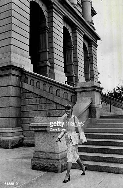 SEP 17 1981 OCT 5 1981 OCT 6 1981 Nancy Dick above leaves State Capitol loaded with work Bottom she takes time to unwind with a can of Diet Pepsi