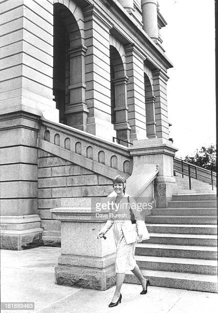 SEP 17 1981 OCT 5 1981 OCT 6 1981 Nancy Dick above leaves State Capitol loaded with work Bottom she takes time to unwind with a can Diet Pepsi