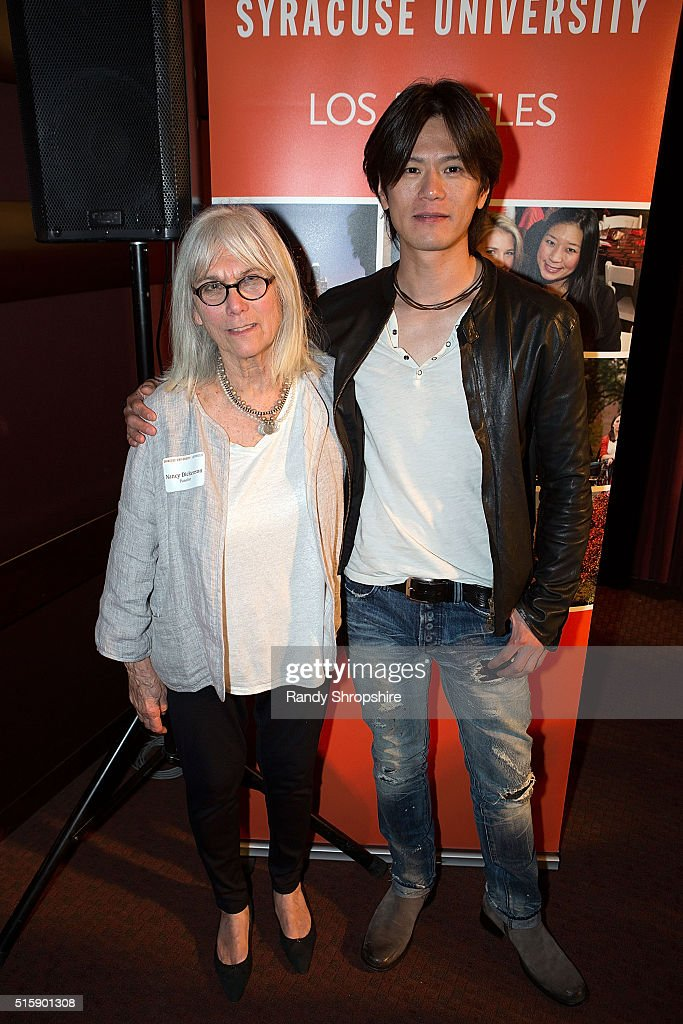 Nancy Dickenson and Takashi Yamaguchi attend the Syracuse University Sophie Screening on March 15, 2016 in Beverly Hills, California.
