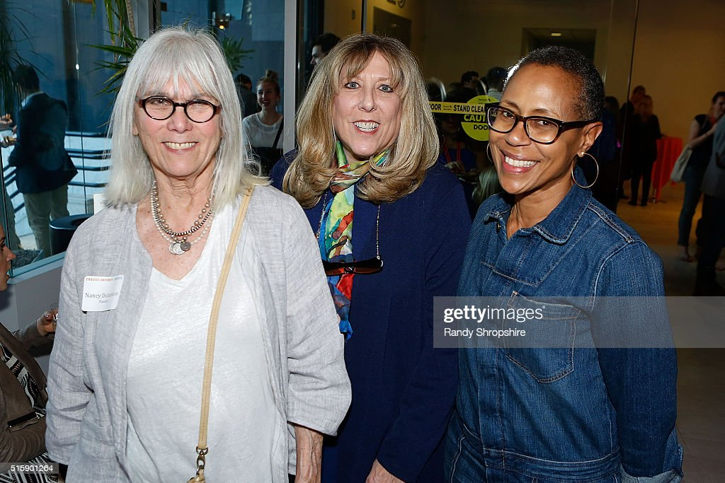Nancy Dickenson, Joan Adler and Michele Edwards attend the Syracuse University Sophie Screening on March 15, 2016 in Beverly Hills, California.