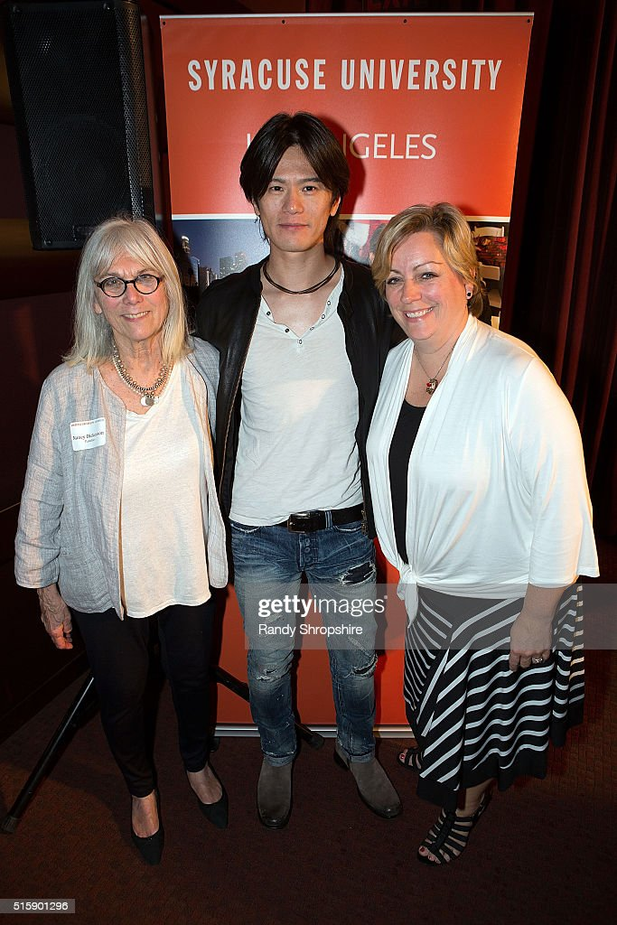 Nancy Dickenson, Takashi Yamaguchi and Kirstin Wilder attend the Syracuse University Sophie Screening on March 15, 2016 in Beverly Hills, California.