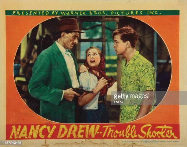 Nancy Drew Troubleshooter lobbycardNancy Drew Troubleshooter from left Erville Alderson Bonita Granville Frankie Thomas 1939