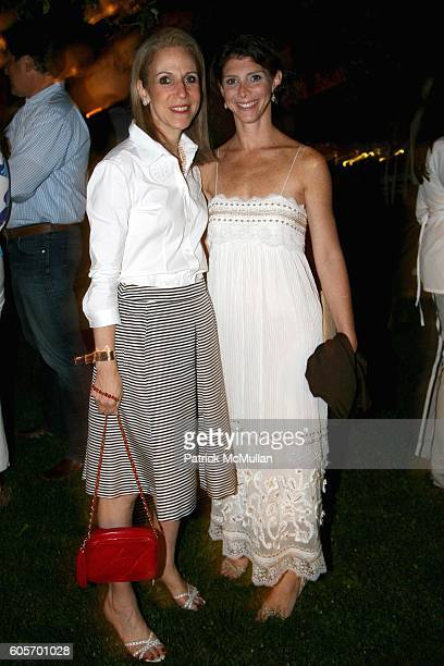 Nancy Druckman and Jill Diest attend HOUSE AND GARDEN MAGAZINE Designer Showhouse Dinner hosted by Laura and Harry Slatkin at Lily Pond Lane on July...