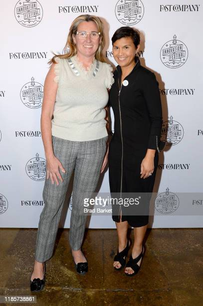 Nancy Dubuc and Stephanie Mehta attend the Fast Company Innovation Festival Day 1 Arrivals on November 05 2019 in New York City