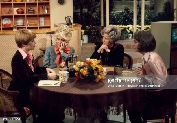 Nancy Dussault, Rona Barrett, Erma Bombeck, Helen A Brown appearing on the ABC tv series 'Good Morning America'.