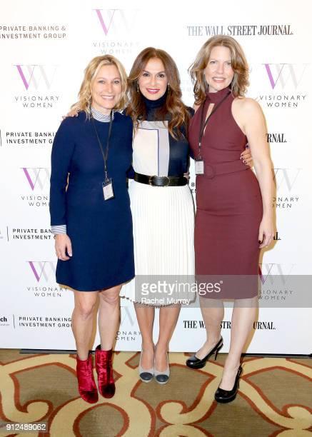 Nancy Ellin Visionary Women Executive Board Member Angella Nazarian and speaker Daniella Schlisser attend the Visionary Women 2018 Salon Mastering...