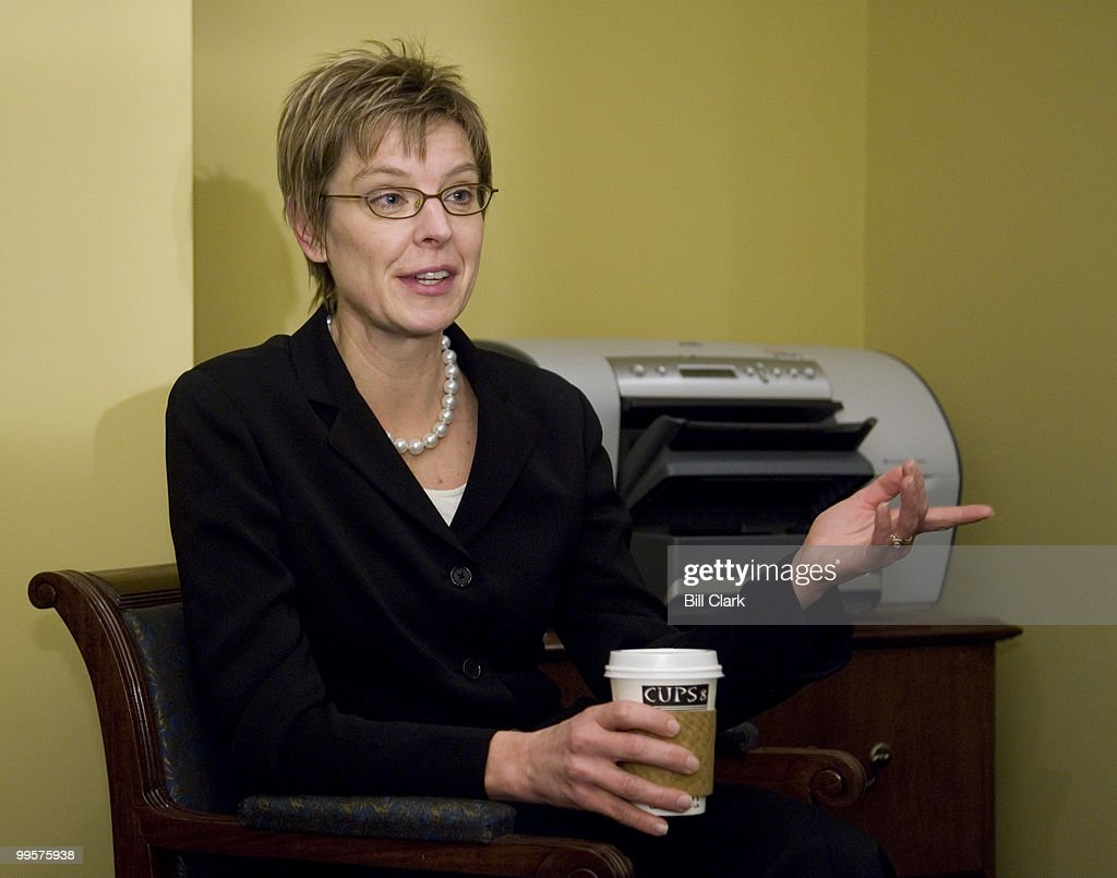 Nancy Erickson, incoming Secretary of the Senate, speaks to Roll Call from her current office in the basement of the Capitol on Thursday, Dec. 7, 2006.