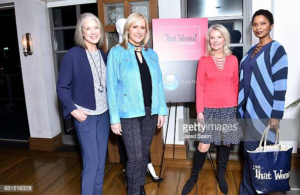 Nancy Farrell Kim Larson Bonnie Trompeter and Ann Marie Joseph attend The HSN Celebration for Marlo Thomas' Debut Fashion Line That Woman By MARLO...